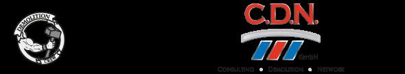 Logo CDN GmbH Kasendorf - Ihr Spezialist für Abbrucharbeiten aller Art